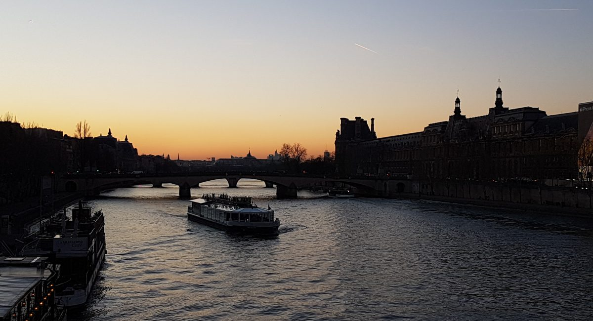 Sunset above the Seine trip